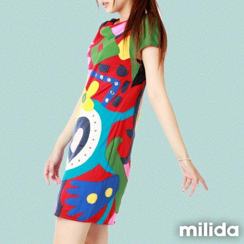 【Milida,全店七折免運】削肩袖氣質洋裝 3