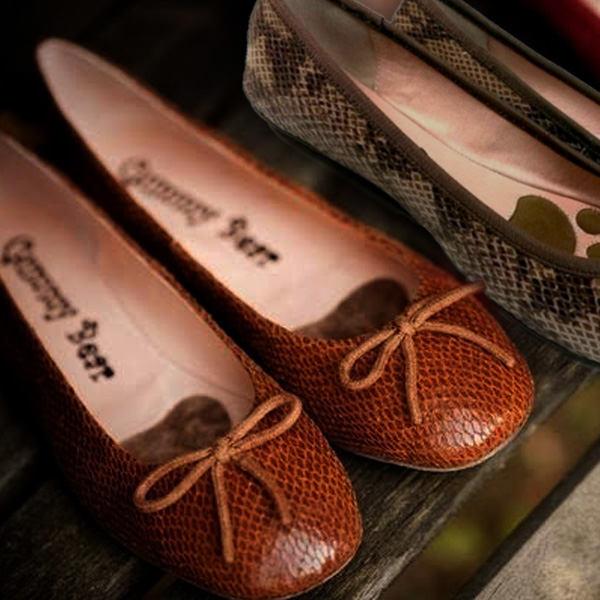 Gummy Bear Snake系列義大利蟒鱗紋皮蝴蝶結圓頭娃娃鞋 超透氣柔軟頂級豚皮法國雙層植絨 蘇菲豆豆鞋 2色
