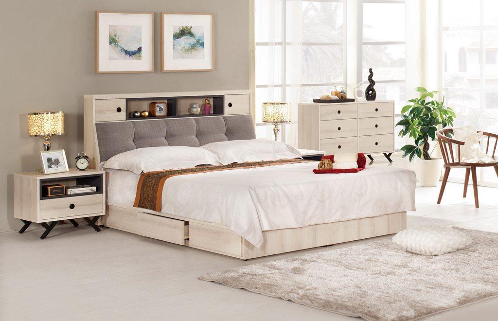 【 尚品傢俱】CM-577-1 優娜6尺被櫥式雙人床 / 5尺被櫥式雙人床 / 3.5尺被櫥式單人床