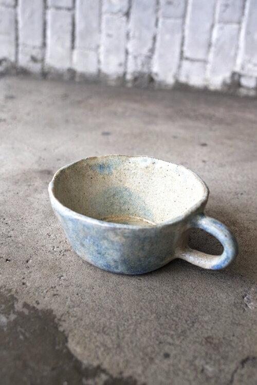 Tiner的手捏陶155號  灰藍咖啡杯
