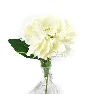 X射線【Y170811】一頭繡球花束-米白,仿真花人造花園藝家飾婚禮小物佈置裝飾幼兒園送禮配件髮飾活動佈置花束花園陽台