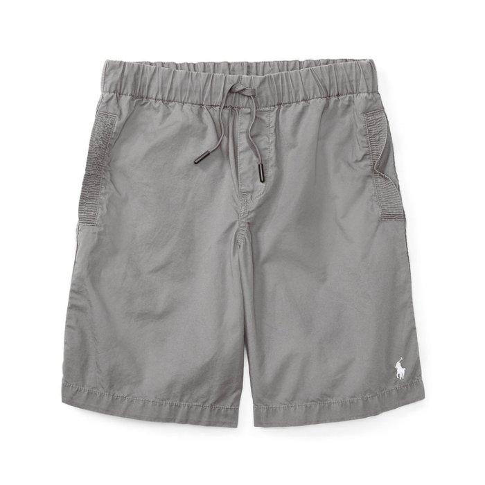 美國百分百【全新真品】Ralph Lauren 抽繩短褲 休閒褲 褲子 Polo RL 小馬 灰色 XS S號青年版 I159