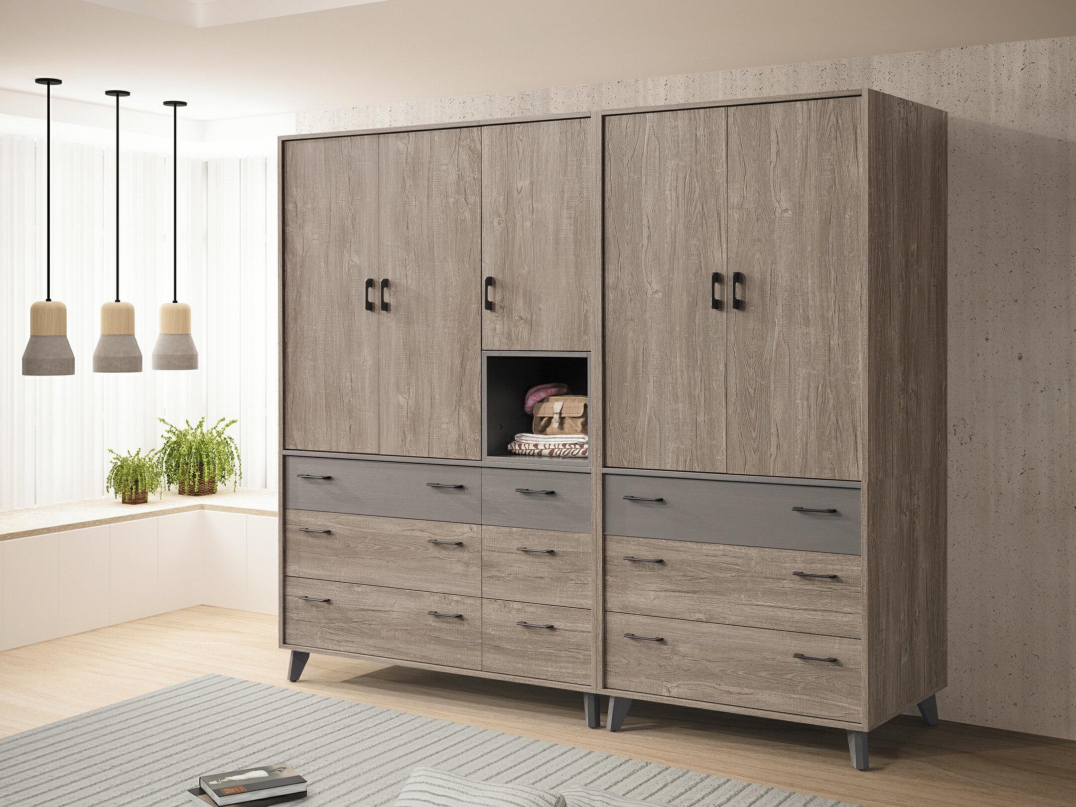 【尚品家具】HY-B038-01 奧蘭多77尺組合衣櫥