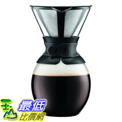 [107美國直購] 咖啡機 Bodum Coffee Maker  51 oz 11593-01S  Pour Over Coffee Maker with Permanent Filter