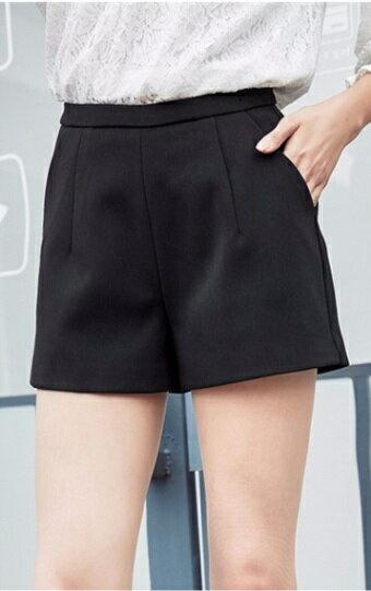 《滿399免運 滿666再折66》高腰雪紡西裝隱形拉鍊闊腿顯瘦短褲 【現+預】雪紡褲寬褲 顯瘦素面百搭 辦公室面試必備款【LG771S5EL】 Lanny Dress