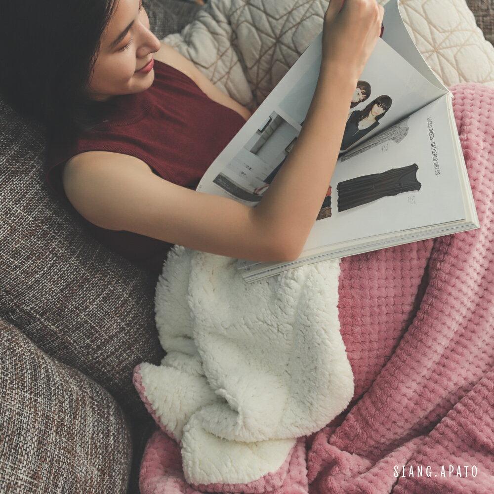 【熱銷破2千條】日本同步法蘭絨x羊羔絨毯-5色 毛毯 / 毯子 / 保暖 / 柔軟 台灣製造 翔仔居家 外島運費另計 6