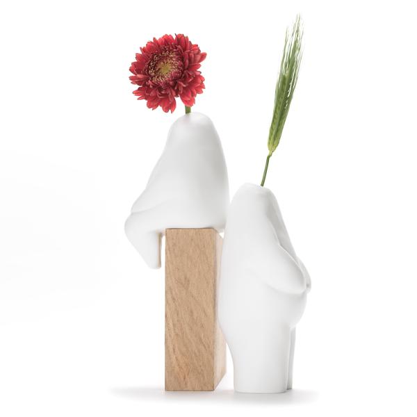 【+d】人型花瓶站姿花器植物綠生活療癒擺飾