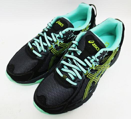 ASICS 亞瑟士 童鞋 慢跑 越野 輕量 GEL-VENTURE 6 GS C744N-9097 (黑x綠)[陽光樂活]