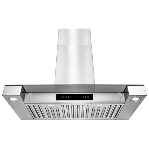 "Golden Vantage 30"" Wall Mount Style Stainless Steel Touch Screen Display Kitchen Vent Range Hood 0"