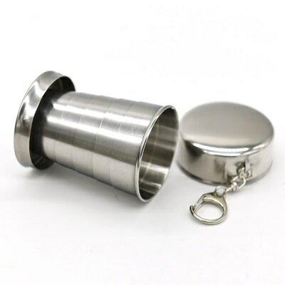不鏽鋼杯 摺疊隨行杯-便攜75ml隨身201不鏽鋼水杯73pp498【獨家進口】【米蘭精品】 1