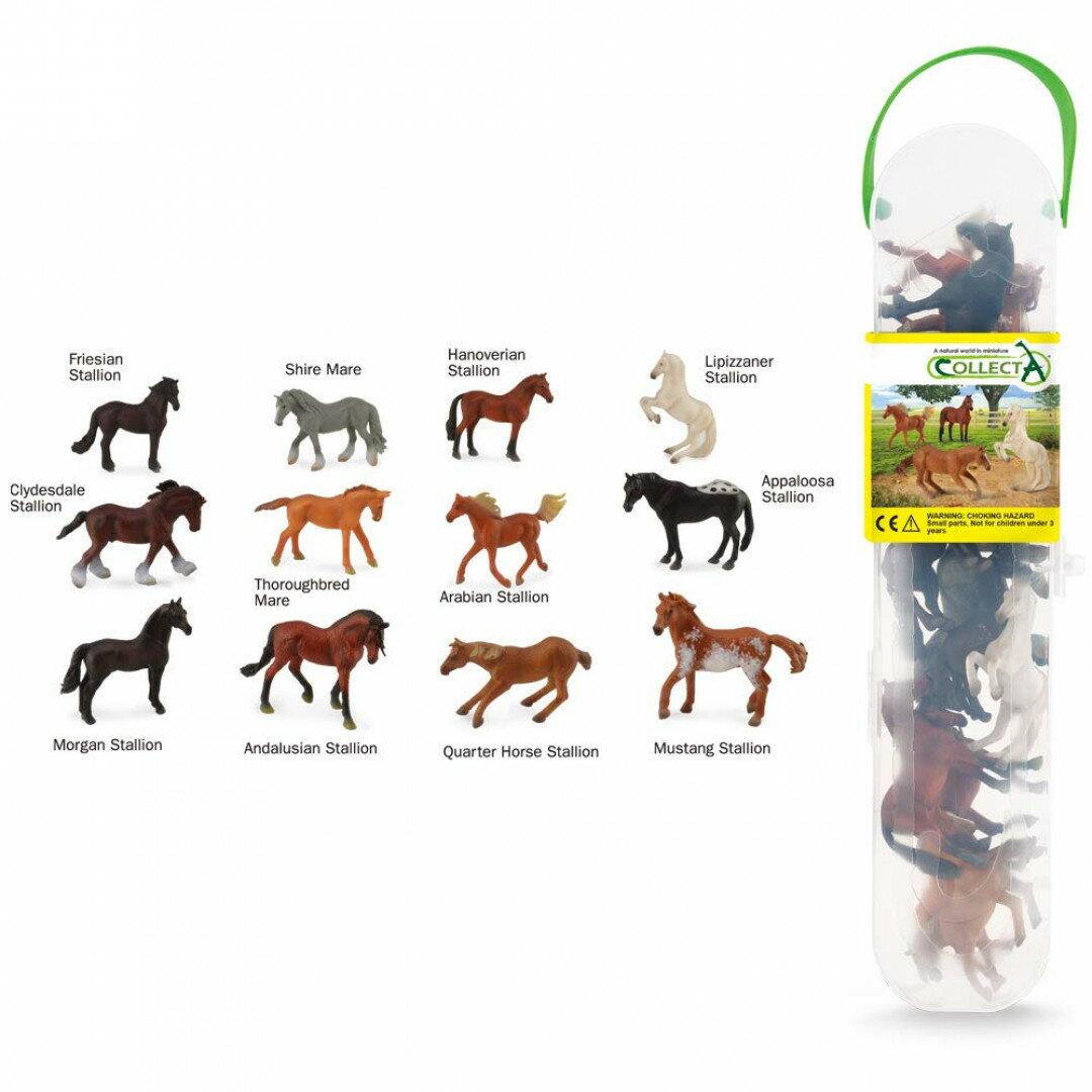 動物模型【 COLLECTA 】盒裝迷你馬系列