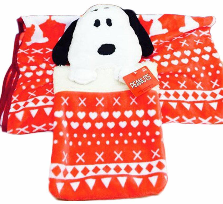 X射線【C016282】SNOOPY收納式毛毯,禦寒/披毯/冷氣毯/毛毯/懶人毯/披肩/暖毯/保暖商品/披肩毯/絨毛毛毯