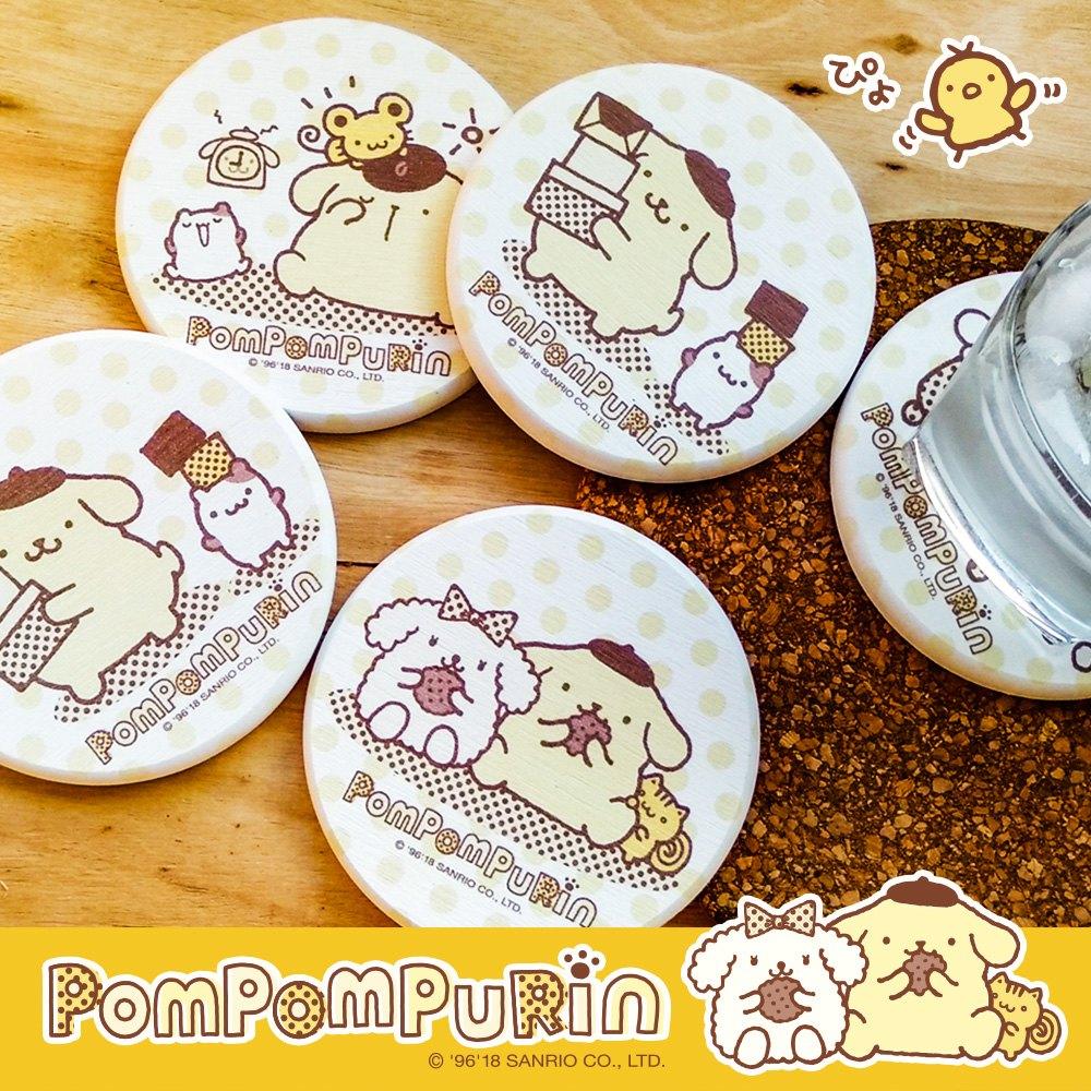【買一送一】三麗鷗獨家授權 Sanrio 珪藻土吸水杯墊 布丁狗 Pom Pom Purin 0