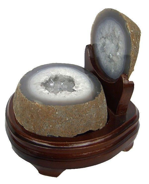 白水晶聚寶盆擺件水晶瑪瑙聚寶盆2kg聚寶盆
