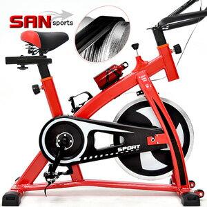 【SAN SPORTS】戰神競速飛輪車(皮帶傳動)飛輪健身車.公路車自行車訓練機台.腳踏車美腿機.運動健身器材.推薦哪裡買ptt C192-S300