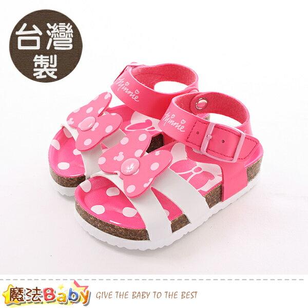 女童鞋台灣製迪士尼米妮專櫃正版涼鞋魔法Baby~sk0379