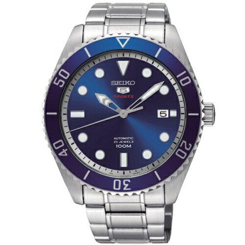 SEIKO精工精工5號經典復刻機械錶藍x銀4R35-02D0B(SRPB89J1)