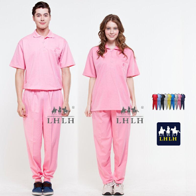 粉色 粉紅色 看護服 健檢服裝 運動套裝 短袖 女 男 Polo衫 【現貨】