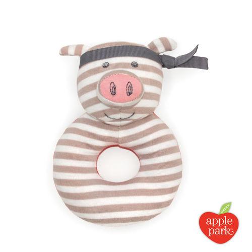 『121婦嬰用品館』OFB 手搖鈴啃咬玩具 - 功夫紅豬 0