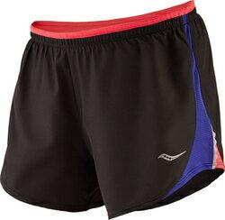 [陽光樂活] [陽光樂活] Saucony 索康尼 女 慢跑短褲 透氣 運動 吸濕排汗 SY81528-BKWL 黑 出清價