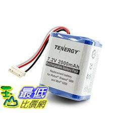 [104美國直購] 380t電池 Tenergy 7.2V 2000mAh Replacement Battery for iRobot Braava 380t & Mint 5200 _tf01