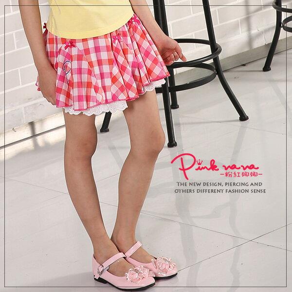Pink Nana:PINKNANA童裝女童夏季格子半身裙傘狀裙子27170