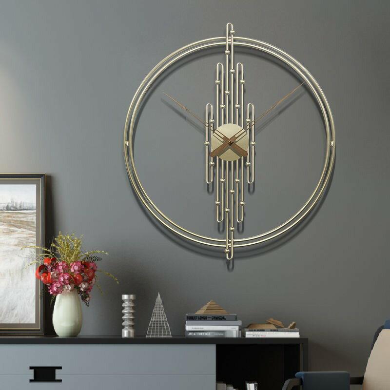 鐘表掛鐘客廳靜音創意掛表家用鐘飾時尚大氣鐘表簡約輕奢北歐時鐘