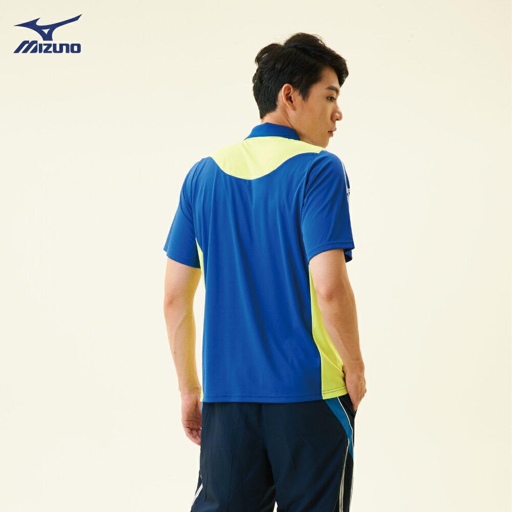 32TA801822(深藍)熱遮蔽布料 男短袖POLO衫【美津濃MIZUNO】 4