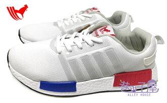 【巷子屋】ROOSTER公雞 女款NMD造型輕量運動慢跑鞋 [7621] 白 超值價$298