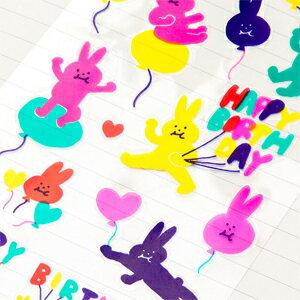 日本 Iroha 生日貼紙系列 - 兔子氣球