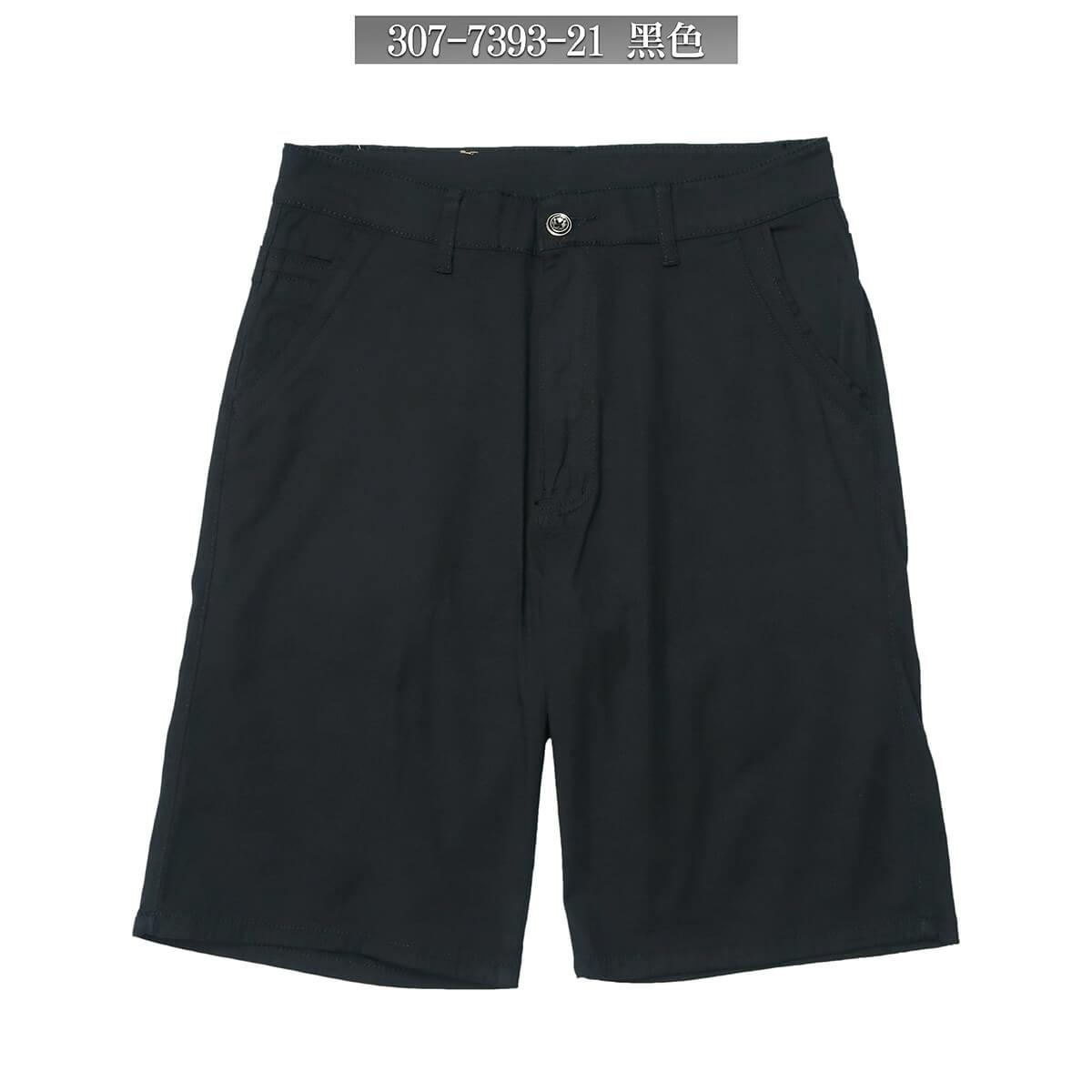 休閒短褲 涼爽輕薄短褲 素面短褲 彈性短褲 透氣棉質短褲 五分褲 黑色短褲 Mens Shorts Casual Shorts Short Pants (307-7393-21)黑色、(307-739