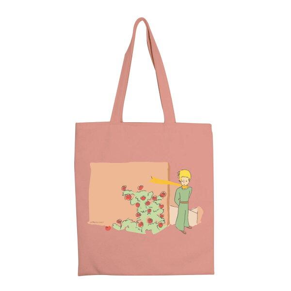 【小王子經典版】彩色手提購物包-玫瑰花園(粉)