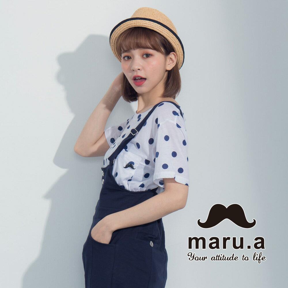 【maru.a】滿版圓點小口袋上衣7321224 2