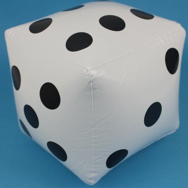 充氣骰子 安全骰子 20cm x 20cm/一袋10個入{促60}充氣球 吹氣海灘球 沙灘球~YF12851