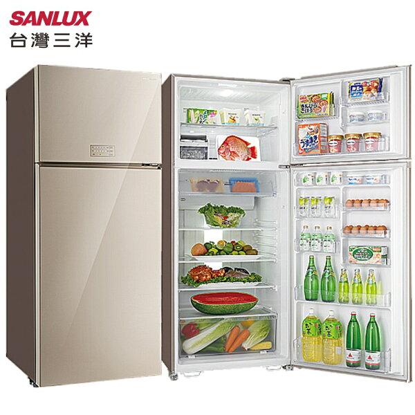 SANLUX台灣三洋SR-C533BVG冰箱533L直流變頻雙門能源效率第1級