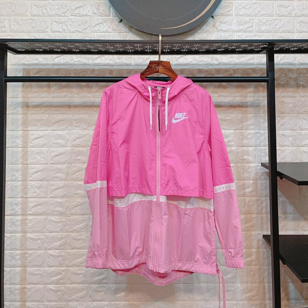 Nike 女外套上衣 2020春夏新款 跑步訓練服 輕薄透氣防風 活力粉時尚外套 AJ2983-610 【羅傑服裝】