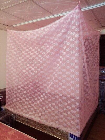 ~米詩蘭~傳統型防蚊帳6x6尺^(雙人加大粉色^)