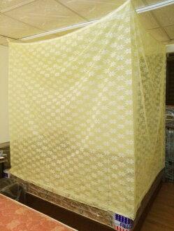 【米詩蘭】傳統型防蚊帳6x6尺(雙人加大黃色)