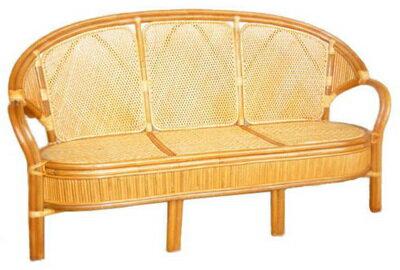 【MSL】凱薩藤皮三人坐藤椅/沙發