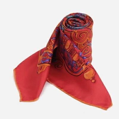 絲巾桑蠶絲圍巾-典雅時尚古典印花女配件2色73hx28【獨家進口】【米蘭精品】