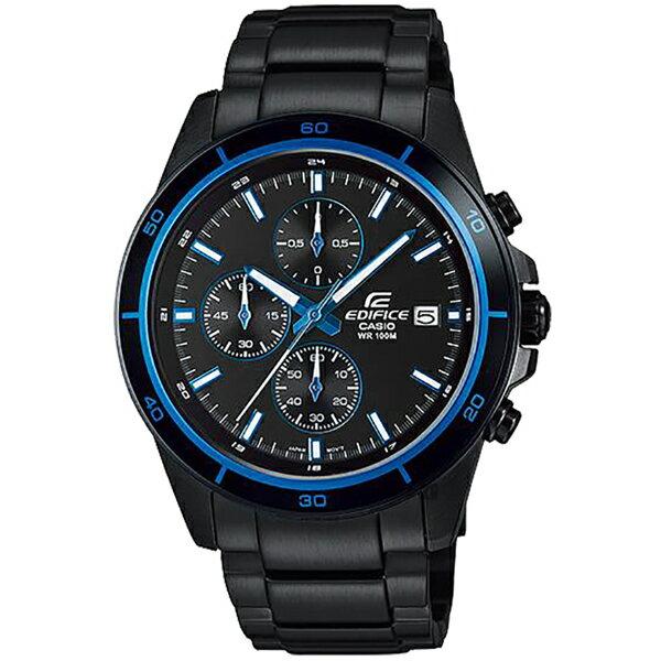 CASIO 卡西歐 EDIFICE 經典賽車計時手錶-湛藍 EFR-526BK-1A2 / EFR-526BK-1A2VUDF 比漾廣場 0