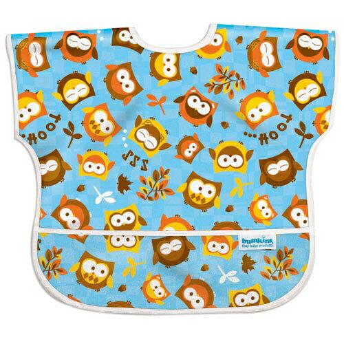 美國【Bumkins】兒童短袖防水圍兜 - 貓頭鷹 BKU-240 (1-3歲) - 限時優惠好康折扣