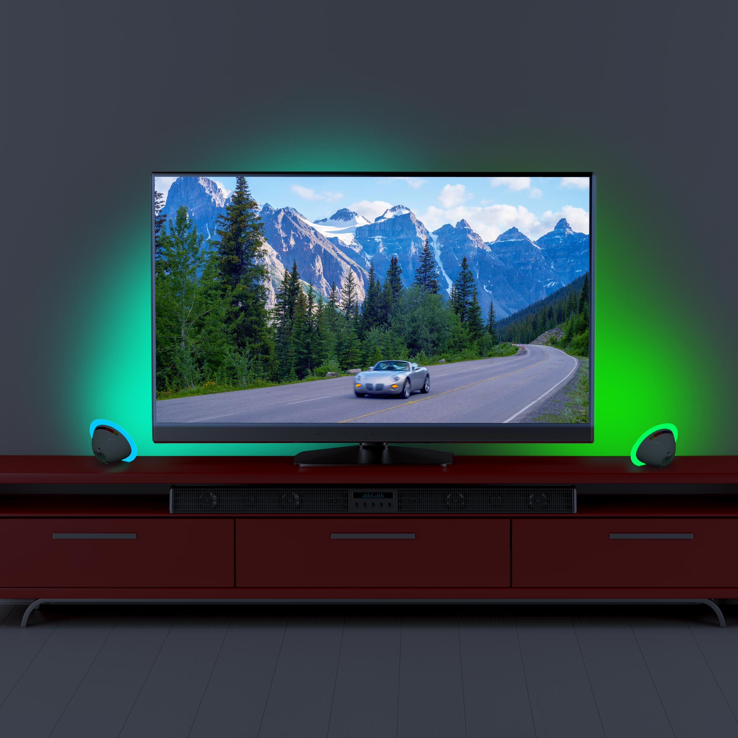 Multicolor LED Bias Lighting Backlight for TV & Computer Screen with 256 Colors & USB/Battery Power 2