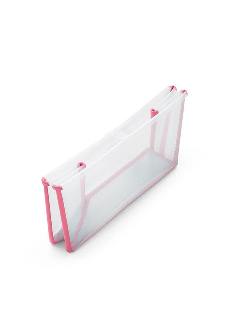 丹麥【Stokke】Flexi Bath 摺疊浴盆(透明粉)總代理公司貨-米菲寶貝 2