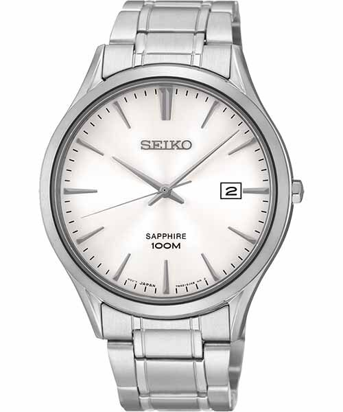 Seiko 7N42~0FW0S^(SGEG93P1^) 藍寶石水晶玻璃簡約腕錶  白面4