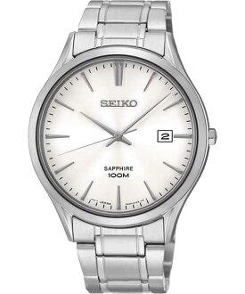 Seiko 7N42-0FW0S(SGEG93P1) 藍寶石水晶玻璃簡約腕錶/白面40mm