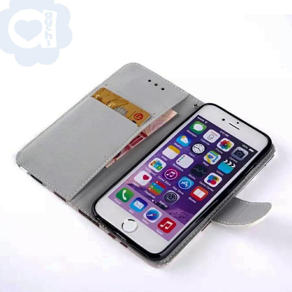 Apple iPhone 6 Plus/6s Plus 英倫格紋氣質手機皮套 側掀磁扣支架式皮套 矽膠軟殼 5色可選 2