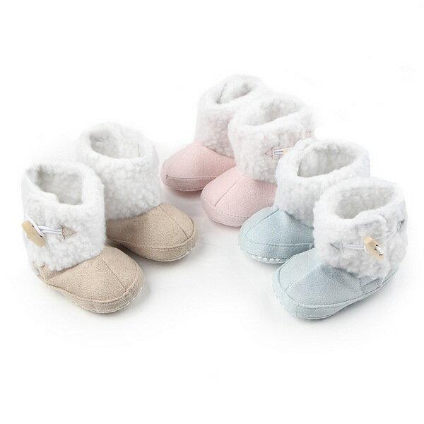 好娃娃親子生活館:寶寶鞋仿麂皮軟底羊羔絨防滑嬰兒學步鞋寶寶雪靴(11-13cm)MIY0082好娃娃