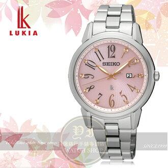 SEIKO日本精工LUKIA林依晨代言都會知性女人太陽能腕錶V137-0CG0P/SUT297J1公司貨