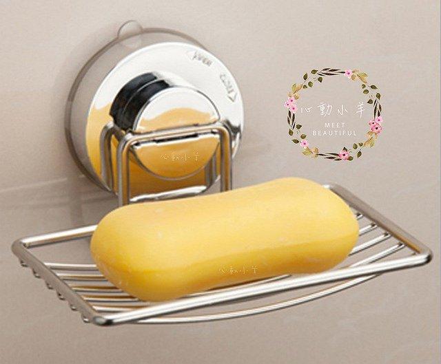 心動小羊^^304不鏽鋼強力吸盤皂架、皂盤、浴室皂盒置物架